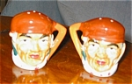 Click here to enlarge image and see more about item tobshk12031: Vintage Ceramic Character Shakers