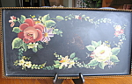 Click here to enlarge image and see more about item toletray20717: Vintage Painted Tray