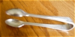 Click here to enlarge image and see more about item tongs10601: Antique Sheffield Silverplate Tongs