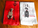 Click here to enlarge image and see more about item towels30622: Vintage Poodle Tea Towels