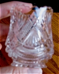 Click here to enlarge image and see more about item tpic110409: Vintage Crystal Toothpick Holder