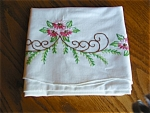Click here to enlarge image and see more about item tpill90413: Vintage Embroidered Pillowcases