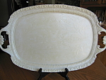 Click here to enlarge image and see more about item tray10730: Vintage Italian Metal Painted Tray