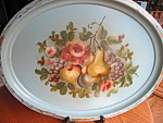 Click here to enlarge image and see more about item tray30721: Vintage Painted Metal Tray