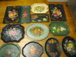 Click to view larger image of Large vintage Painted Metal Tray (Image6)