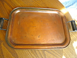Click here to enlarge image and see more about item tray60815: Antique Copper Tray