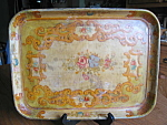 Click here to enlarge image and see more about item tray70613a: Vintage Oriental Paper Mache Tray