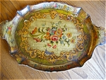 Click here to enlarge image and see more about item tray90517: Vintage Patented Hand Painted Tea Tray