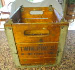 Vintage Twin Pines Milk Crate