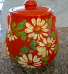 Click here to enlarge image and see more about item uhlcookie10412: UHL Pottery Cookie Jar