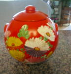 Click here to enlarge image and see more about item uhlcookie9014: Vintage UHL Pottery Cookie Jar