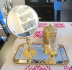 Click to view larger image of Vintage Gold Vanity Accessories (Image1)