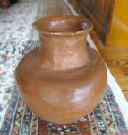 Click here to enlarge image and see more about item vase080810: Large Hand Thrown Vase