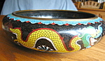 Click here to enlarge image and see more about item vase10071: Antique Cloisonne Bowl Signed