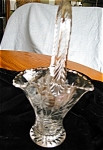 Click here to enlarge image and see more about item vase10601: Antique Etched Glass Basket Vase