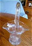 Click here to enlarge image and see more about item vase10625: Antique Glass Basket Vase