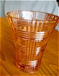 Click here to enlarge image and see more about item vase70527: Pink Glass Vase