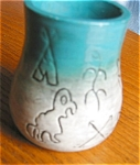 Click here to enlarge image and see more about item vasenativ10031: Native American Pottery Vase