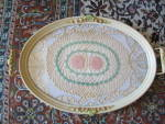 Click to view larger image of Antique Painted Wood Tray (Image4)