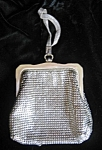 Click here to enlarge image and see more about item vintagepurse1007: Vintage Whiting & Davis Silver Mesh Purse