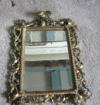 Click here to enlarge image and see more about item vmirror10810: Antique Rococo Beveled Mirror