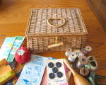 Click to view larger image of Vintage Sewing Basket w/Notions (Image6)