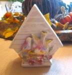 Click to view larger image of Gold Accent Vintage Birdhouse Wallpocket  (Image6)