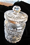 Click here to enlarge image and see more about item waterford10609: Waterford Crystal Honey Jar
