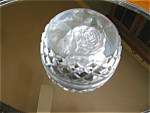 Click here to enlarge image and see more about item waterford30611: Waterford Crystal Rose Paperweight