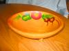 Click to view larger image of Vintage Painted Wood Bowl (Image2)