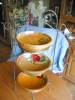 Click to view larger image of Vintage Painted Wood Bowl (Image7)