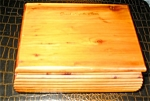 Click here to enlarge image and see more about item wbox10031: Vintage Cedar Wood Box