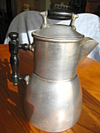 Click here to enlarge image and see more about item wearever70613: Patented Antique Wear-Ever Drip Coffeepot