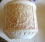 Click to view larger image of Weller Pottery Ivory Jardiniere (Image6)