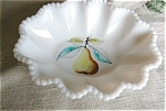 Click here to enlarge image and see more about item westmoreland10609: Westmoreland Hand Painted Bowl