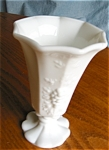 Click here to enlarge image and see more about item westmoreland30622a: Westmoreland Milk Glass Vase