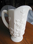 Click here to enlarge image and see more about item westmoreland40701: Westmoreland Milk Glass Pitcher