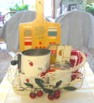 Vintage Red White Kitchen Gadgets