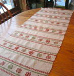 Click here to enlarge image and see more about item wool0216: Wool Table Runner