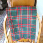 Click here to enlarge image and see more about item wooltable4013: Wool Plaid Tablecloth