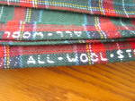 Click to view larger image of Wool Plaid Tablecloth (Image2)