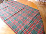 Click to view larger image of Wool Plaid Tablecloth (Image7)