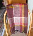 Click here to enlarge image and see more about item woolthrow1209: Vintage Wool Throw
