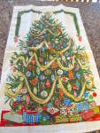 Click to view larger image of Vintage Linen Christmas Towel (Image1)