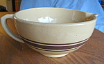 Click here to enlarge image and see more about item yelloware110808: Vintage Yellow Ware Batter Bowl