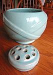 Click here to enlarge image and see more about item zanesville908: Zanesville Vase w/Flower Frog