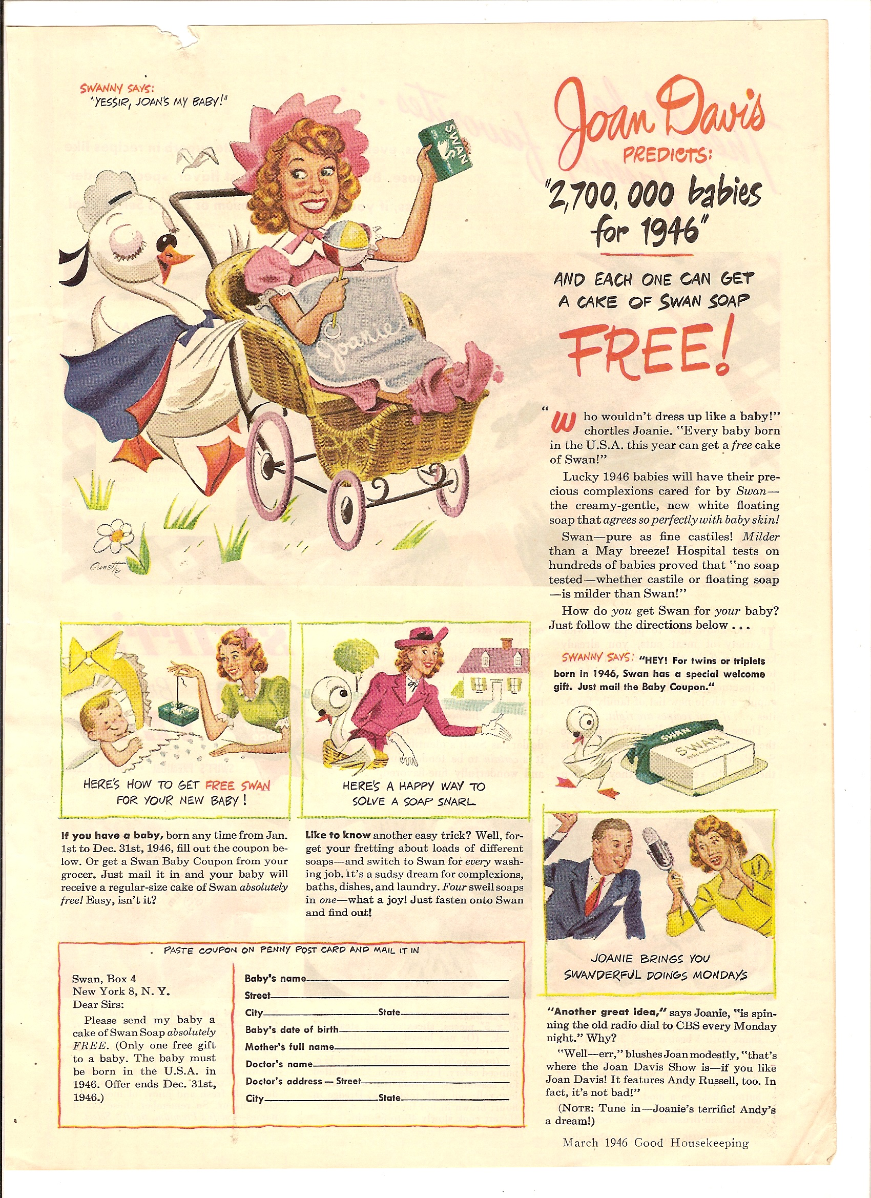 Swan Soap Ad Bea - Dad - Nude Little Girl