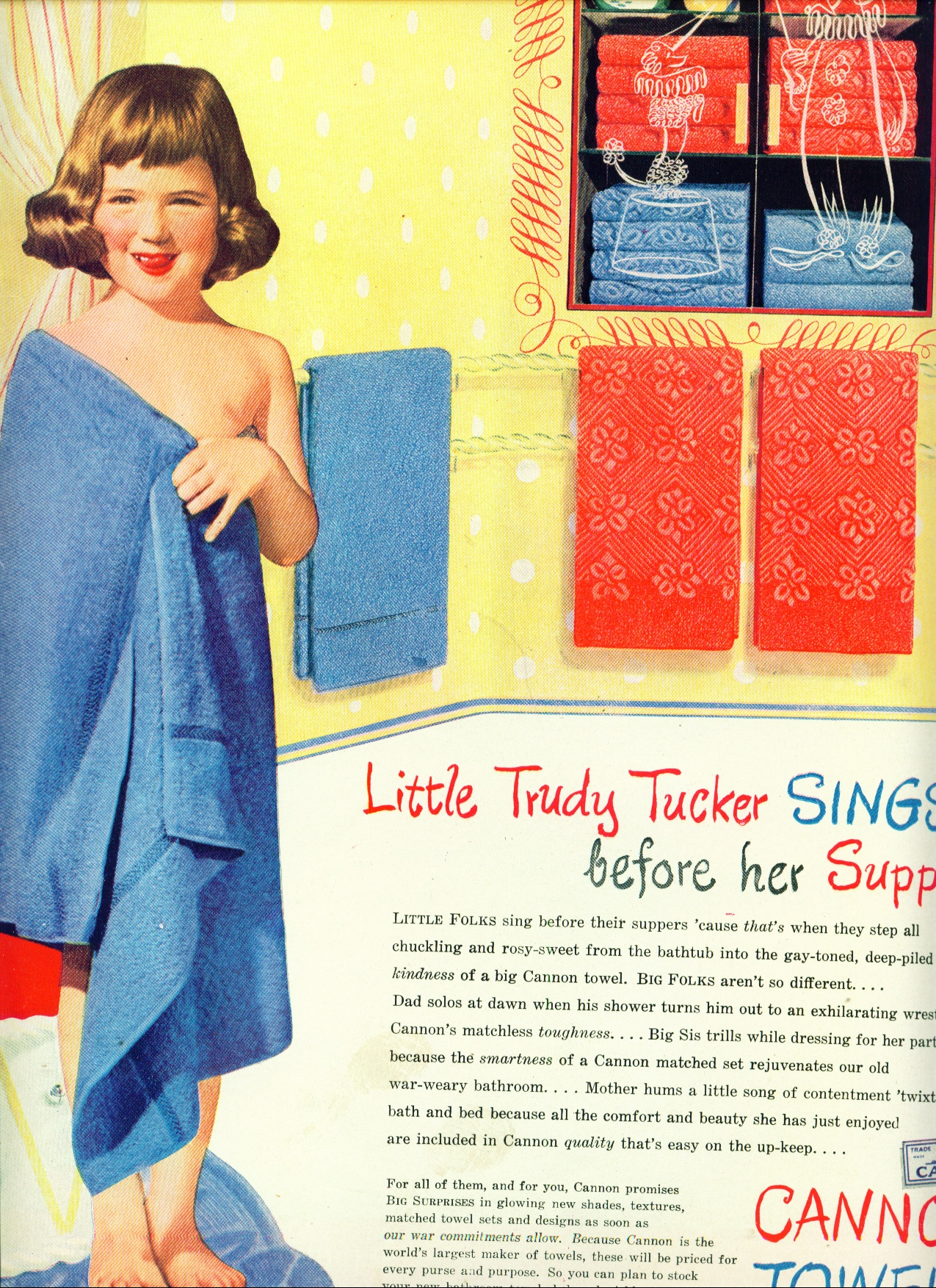 1958 Simonez Two Nude Girls Running Floor Ad