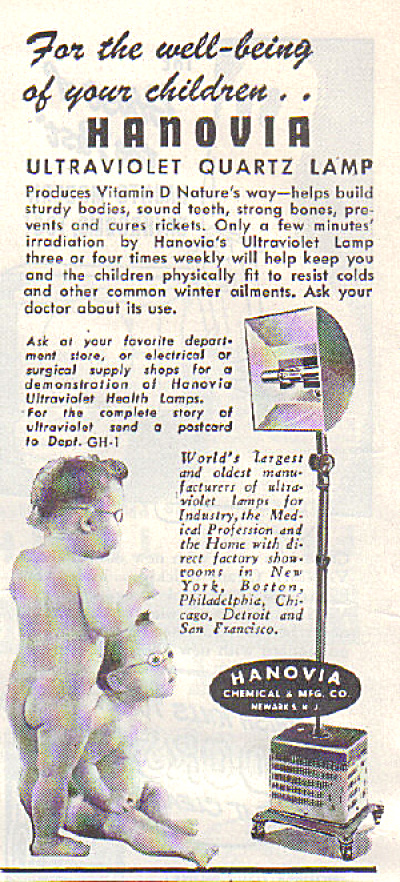 1947 Hanovia Bare Butt Nude Kids AD UV Lamp (Image1)