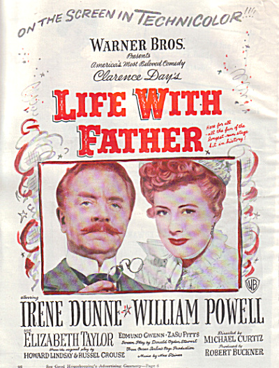 1947 LIFE WITH FATHER Irene Dunne Movie AD (Image1)